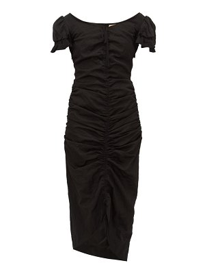 Brock Collection ruched satin midi dress