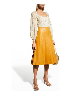 Brock Collection Sibilla Puff-Sleeve Blouse