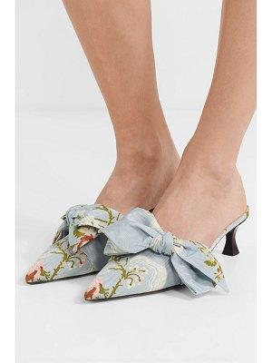 Brock Collection tabitha simmons bow-embellished jacquard mules