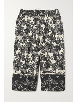 Brock Collection tam paisley-print linen and cotton-blend culottes