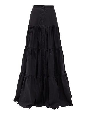 Brock Collection tiered cotton-blend skirt
