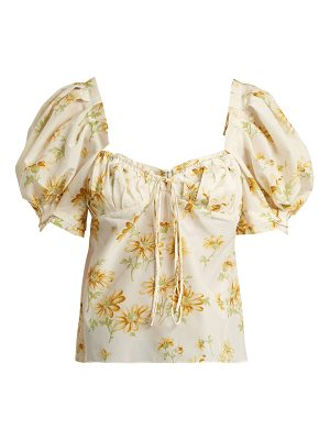 Brock Collection Trixie floral-print cotton and silk-blend top