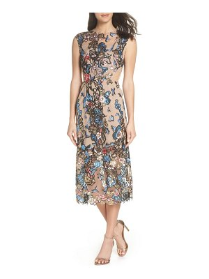 Bronx and Banco bird of paradise sequin embroidered midi dress