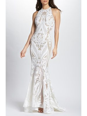 Bronx and Banco ester halter mermaid gown