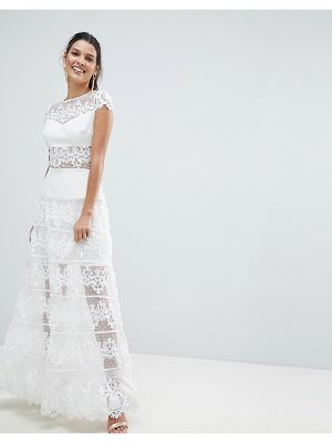 Bronx and Banco Lace Panel Maxi Dress
