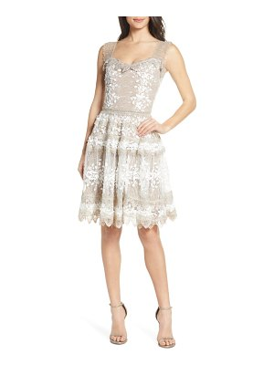 Bronx and Banco marie floral lace bell skirt party dress