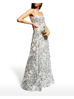 Bronx and Banco Midnight Silver Sequin Gown