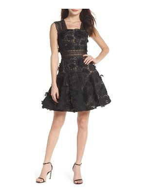 Bronx and Banco mishka floral lace fit & flare dress