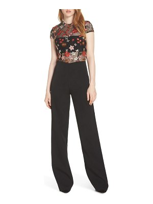 Bronx and Banco embroidered floral jumpsuit