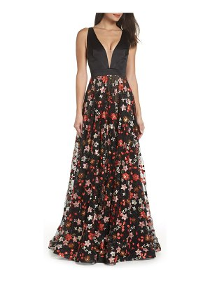 Bronx and Banco embroidered evening dress