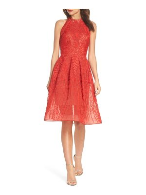 Bronx and Banco notte lace fit & flare dress