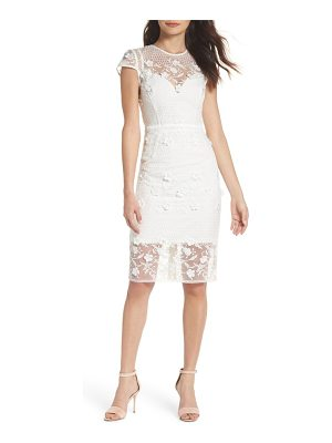 Bronx and Banco osa embroidered cap sleeve organza dress
