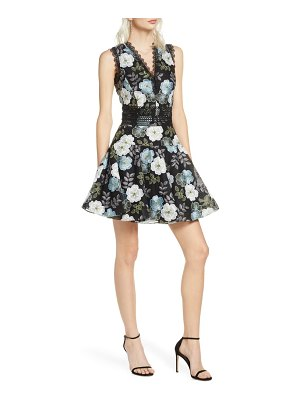 Bronx and Banco palette floral minidress