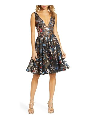 Bronx and Banco paradise sequin lace midi cocktail dress