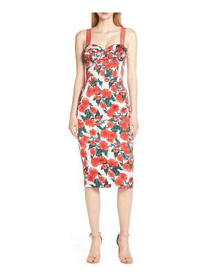 Bronx and Banco ruby sleeveless pencil dress