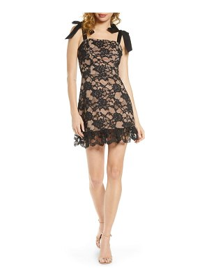 Bronx and Banco willow noir lace minidress