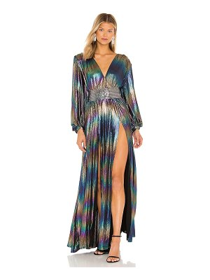 Bronx and Banco zoe petrol gown
