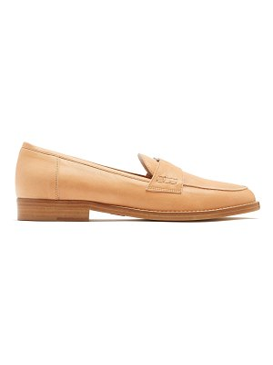 Brother Vellies Coin-embellished leather penny loafers