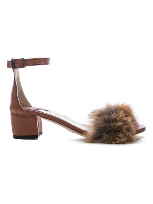 Brother Vellies Dhara Tufted Fox Fur Sandals
