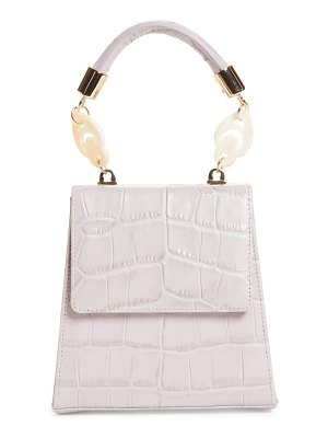 Brother Vellies nile croc embossed leather top handle bag