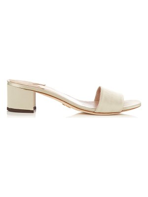 Brother Vellies Solt satin block-heel mules