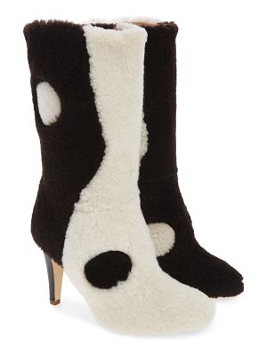 Brother Vellies yin yang genuine shearling boot