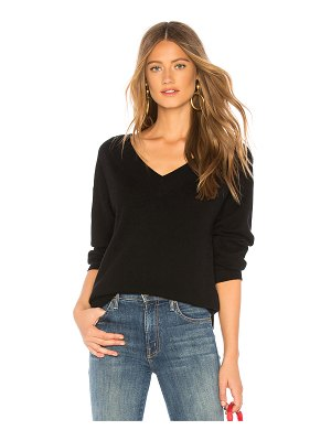 BROWN ALLAN The Wide V Neck Sweater