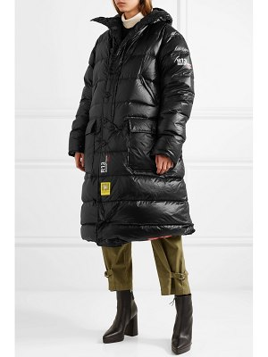 Brumal r13 hooded quilted shell down jacket