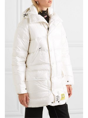 Brumal r13 hooded quilted shell down parka