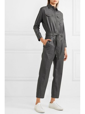 Brunello Cucinelli bead-embellished belted wool jumpsuit