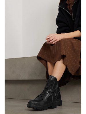 Brunello Cucinelli bead-embellished leather ankle boots