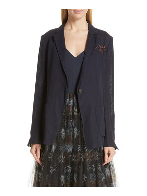Brunello Cucinelli beaded cotton voile jacket