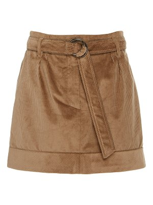 Brunello Cucinelli belted corduroy mini skirt size: 38