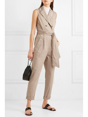 Brunello Cucinelli belted cotton jumpsuit