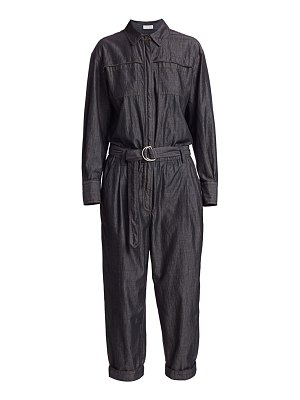 Brunello Cucinelli belted denim jumpsuit