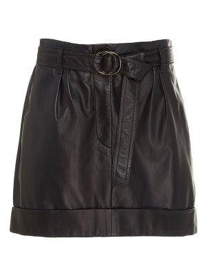 Brunello Cucinelli belted leather mini skirt size: 38