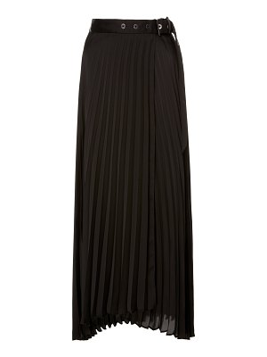 Brunello Cucinelli belted pleated satin maxi skirt size: 46