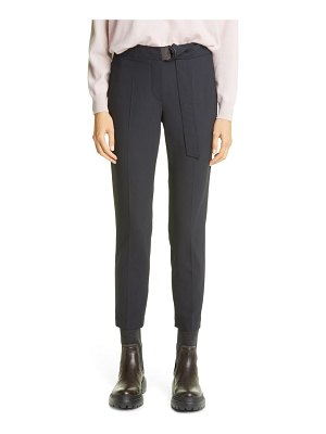 Brunello Cucinelli belted tropical wool blend ankle pants