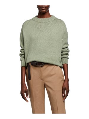 Brunello Cucinelli Cashmere Silk Mock-Neck Sweater