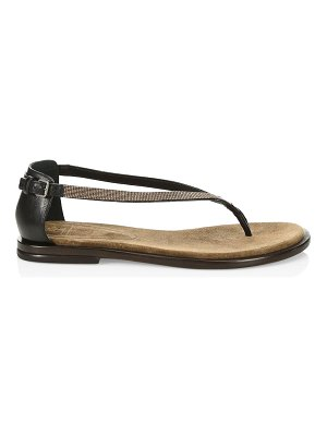 Brunello Cucinelli chain trim thong sandals