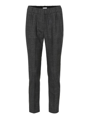 Brunello Cucinelli Checked wool cigarette pants