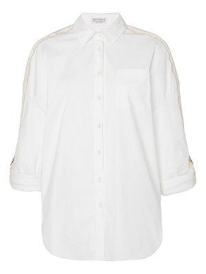 Brunello Cucinelli cotton-blend button-up shirt