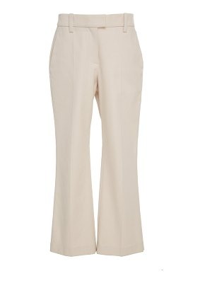 Brunello Cucinelli cropped stretch-cotton flared pants size: 42