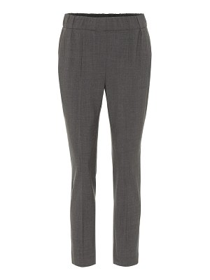 Brunello Cucinelli cropped wool-blend pants