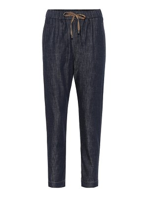 Brunello Cucinelli embellished relaxed jeans
