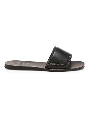 Brunello Cucinelli flat leather sandals