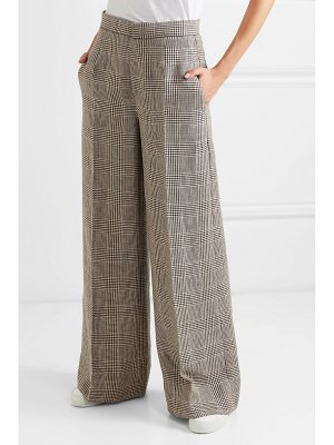 Brunello Cucinelli houndstooth linen wide-leg pants