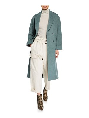 Brunello Cucinelli Melton Wrap Coat