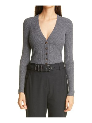 Brunello Cucinelli metallic rib cardigan