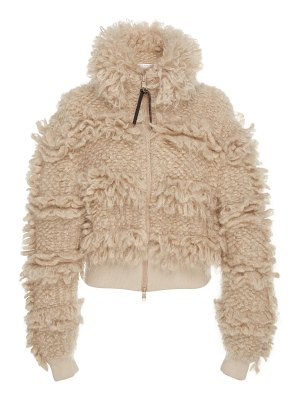 Brunello Cucinelli mohair and wool-blend bomber jacket size: l
